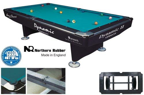 Billardtisch Dynamic II, 9 ft. (Fuß), schwarz glänzend, Pool (Fuß 9 Billardtisch)