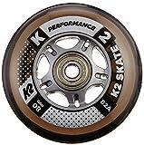 K2 30B3009.1.1.1SIZ Juego de 8 ruedas para patines en línea, 80 mm, ILQ 7, tamaño único, multicolor