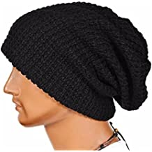 Hombres Cozy Beanie universal Cálido Invierno de punto de esquí Beanie Hat cráneo Slouchy Gorra Sombrero