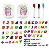 Lernen Set Magnettafel mit Tisch Spielzeug zum Zeichnen und Lernen für Kinder ab 3 Jahren - 4