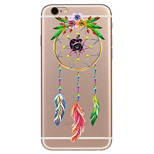 IPhone 6 plus Hülle, Schutzhülle Case Silikon- Clear Ultra Dünn Durchsichtige Backcover TPU Case für iPhone 6plus 6splus Traumfänger Farbe