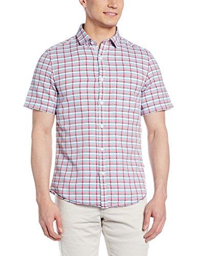 John Miller Men's Casual Shirt (8907372349053_1VS04681_42_Red)