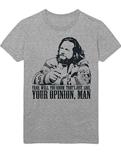 T-Shirt The Big Lebowski Yeah, Well. C000005 Grau XL -