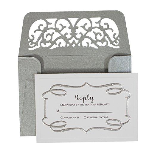 Spellbinders set di fustellatura per inviti di nozze shapeabilities, buste e rilievi