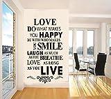 Rainbow Fox House Rules Wand Aufkleber Englisch berühmte & inspirierende Zitate Wand Aufkleber Sprüche für Home Dekoration Love