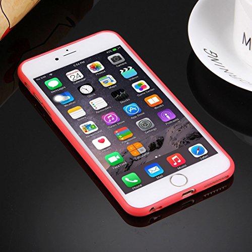 iPhone Case Cover Pour iPhone 6 Plus & 6s Plus Boîtier de protection en TPU solide sans trou rond ( Color : White ) Red