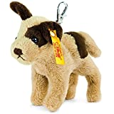 Steiff 112362 - Schlüsselanhänger Hund Strolch, 10 cm, beige/braun