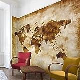 Apalis Vliestapete Nummer CG75 Map of the World Fototapete Breit | Vlies Tapete Wandtapete Wandbild Foto 3D Fototapete für Schlafzimmer Wohnzimmer Küche | beige, 94738