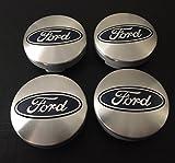 4x Ford 54mm silber blau Logo Alufelgen Hub Mitte Kappen passend für die meisten Modelle Focus Fiesta Mondeo S-Max B-Max C-Max Galaxy Kuga ECOSPORT KA TRANSIT CONNECT TOURNEO CUSTOM Edge und weitere Modelle 6M21–1003AA 6M21–1003ba