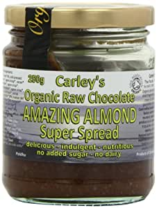 Carley's Organic Raw Chocolate and Almond Butter 250 g (Pack of 3)