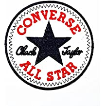 CONVERSE ALL STAR Funny patch Embroidered Iron on Hat Jacket Hoodie Backpack Ideal for Gift /7.3cm(w) X 7.3cm(h) by Think Patch Funny Patch