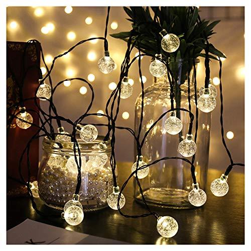 TIM-LI Die Led - Bubble Ball 30 Led - Lampe, 6,5 M Outdoor - Kristallkugel Weihnachtsbeleuchtung, Wasserdicht, Solar - Hof, Garten, Rasen, Party, Festliche Dekoration,Warmcolor (Kommerzielle Led-weihnachtsbeleuchtung)