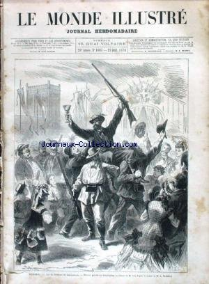 MONDE ILLUSTRE (LE) [No 1007] du 29/07/1876 - SUISSE - LE TIR FEDERAL DE LAUSANNE. par Collectif