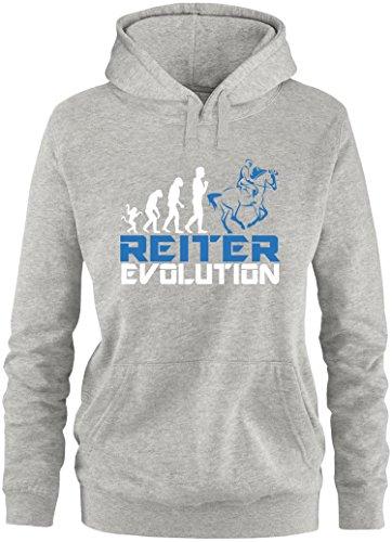 4fbe10bd8ba70 EZYshirt® Reiter Evolution Damen Hoodie