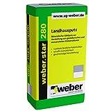 42 Sack/Palette Weber.star 280 1,5mm Korn 30kg Edelputz Landhausputz Besenstrichputz Kammputz