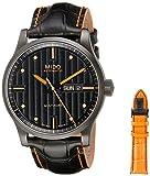 Mido Herren-Armbanduhr MULTIFORT Analog Automatik Leder M0054303605180