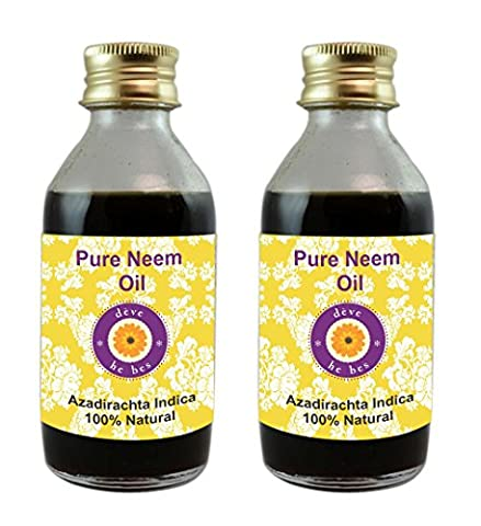 Deve Herbes Pure Neem Oil - Pack of Two (100ml + 100ml) (Azadirachta indica) 100% Natural Cold Pressed