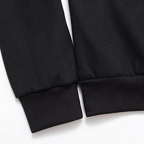 AIRAVATA Herren Kapuzenpullover Langarm Sportkleidung Classics Sweatshirt Schwarz