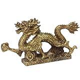 Chinesische fenghsui Messing Skulptur Drache Figur Statuen Home Dekoration BS029