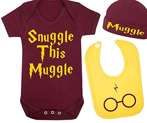 Snuggle-This-Muggle-Harry-Potter-Inspired-baby-Vest-Hat-and-Bib-Set-babygrow-bodysuit-Baby-Shower-Gifts-Novelty