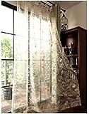Cystyle Neue 1er Piepmatz Frühling Schal Baumwolle Leinen Vorhang Dekosachl Transparent Gardinen,Vorhang Voile Fensterschal Dekoschal für Wohnzimmer Kinderzimmer Schlafzimmer (200 x 250 cm)