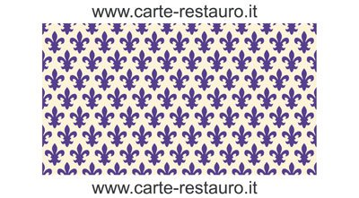 Madiant Tech snc di Gusmini Alessio & C. Florentiner Lilienpapier, Format 70x100 cm - Farbe: Blau - (Preis pro Packung à 10 Stück)