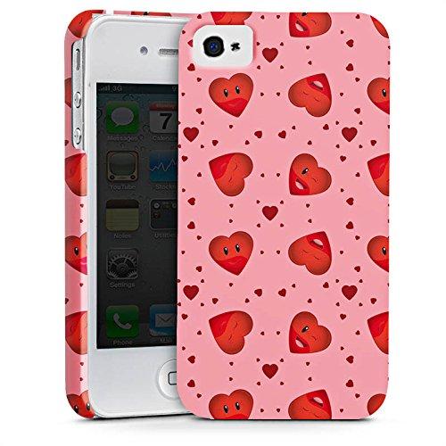 Apple iPhone X Silikon Hülle Case Schutzhülle Valentinstag Pink Herzen Premium Case glänzend