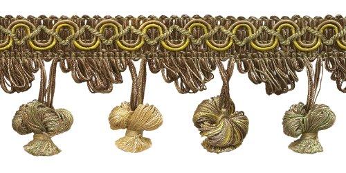 LT Olive Grün, LT GOLD 5,1cm Imperial II Zwiebel Quaste Fransen Stil # nt2503Farbe: Winter Prairie-2935(Verkauft von der Hof) -