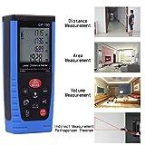 fourHeart Profi Laser Entfernungsmesser 0,05~100M ±2mm Praktischer Laserdistanzmesser Lasermessgerät mit IP54 Staub-&Spritzwasser-Schutz, Blau