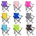 Just be... Folding Camping Chair Festival Garden Foldable Seat Deck Fishing Furniture