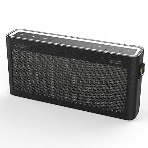 MoKo Bose SoundLink III Bluetooth Lautsprecher Hülle Abdeckung, Premium PU Leder Schutzhülle Case mit Handschlaufe/Karabiner für Bose SoundLink 3 Bluetooth Wireless Speaker, Schwarz