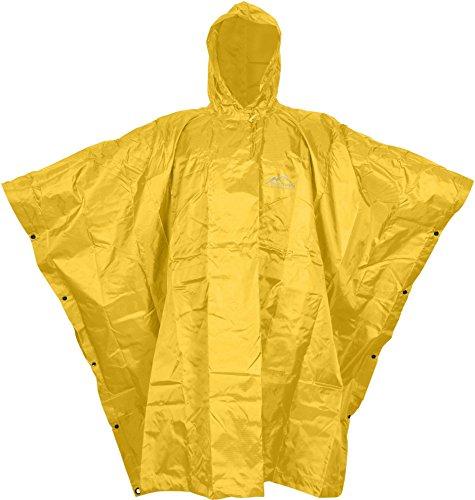 Warnponcho Signalgelb Regenponcho für Notfall Farbe Signalgelb