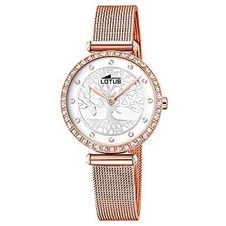 Lotus Reloj Analógico para Mujer de Cuarzo con Correa en Acero Inoxidable 18711/1