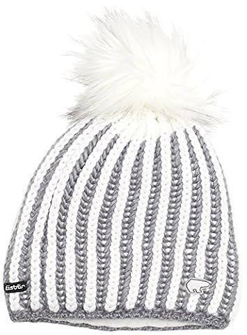 Eisbär Damen Mütze Tabea Lux, Graumele/White, One Size,