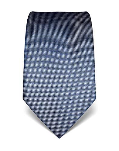 Vincenzo Boretti Herren Krawatte reine Seide strukturiert edel Männer-Design zum Hemd mit Anzug für Business Hochzeit 8 cm schmal/breit graublau