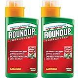 Gardopia Sparpaket: 2 x 400 ml Roundup AC Konzentrat Unkrautfrei zur Bekämpfung von Unkräutern, Gräsern und Moos, für bis zu 440 qm Plus Zeckenzange mit Lupe
