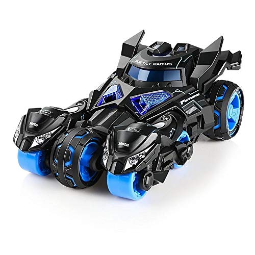 Kikioo Auto-Spielzeug zum Zurückziehen aus Druckguss, Batman-Autorisierung Auto mit 2 Katapultmotorrädern, Sound und Licht Fahrzeug-Spiele im Freien Beste Geschenke für Jungen und Mädchen ab 3 Jahren - Toy 4k Story