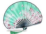 et ventilateur Hall pliant ventilateur japonais ventilateur de soie japonais artisanat cadeau ventilateur et couteau à vent ( Couleur : 5 )