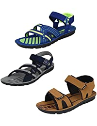 Earton Men Combo Pack of 3 Sandals