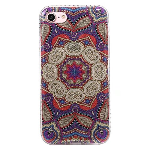 Phone Housse Étui pour iPhone 7 , Coque Pour IPhone 7 Glitter Rhinestone Resin Soft Gel TPU Cover Case Housse Étui Coque pour iPhone7