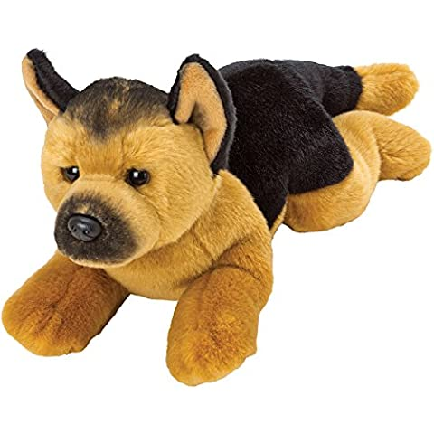 Show Them You Care - Low Cost Great value My First Teddy Bear Present Gift Idea For Boy Boys Girl Girls Kids Children Child - Deluxe Doggy Yomiko Resting German Shepherd Soft Toy Dog - Medium - Recommended For Age