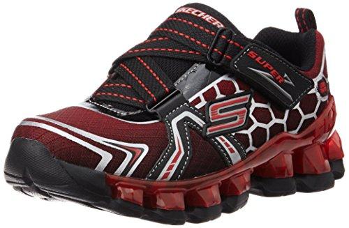 skechers-s-lights-flashpod-kids-boys-trainers-red-strap-flash-pointureeur-30