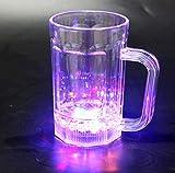LED-Bier Krug Leuchtglas 480 ml (1 Stück) Leuchtglas LED-Trinkglas LED-Bierglas