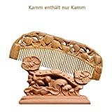 BUYTONO Natürlicher Sandelholzkamm, Doppelseitig Geschnitzt, Geburtstagsgeschenk, Sandelholzkammmassage