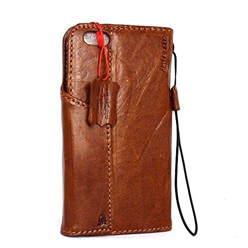 Étui à rabat en cuir vintage fait main pour apple iphone 6 plus Special Housse Portefeuille Retro Id