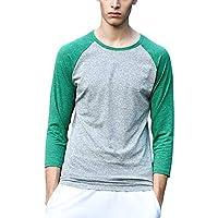 LITTHING Mens Compression Shirts Jerseys Long Sleeve T Shirt Fitness Men T-Shirts Tights
