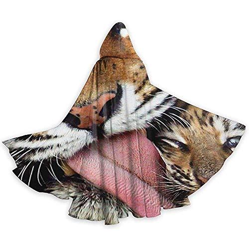 Tiger Kiss Adult Tunika Hooded Knight Halloween Mantel Robe Kostüm Weihnachten, 59Inch (Deluxe Weiße Tiger Kinder Kostüm)