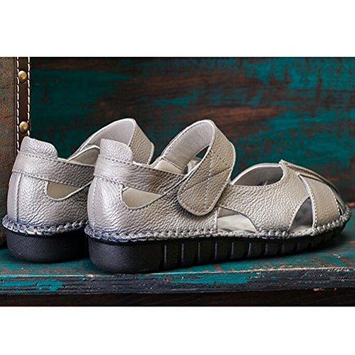 Vogstyle Donne Sandali Scarpe Casual Classic Bocca Di Pesce Romani Sandali Stile 1-Grigio