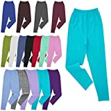 Nurtextil24 Kinder Mädchen Leggings lang alle Größen & 16 Farben aus Baumwolle Dunkeltürkis 98-104 (3-4 Jahre)