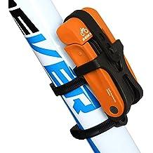 Inbike Candado Plegable Anti-robo con Soporte de Plástico de Acero para Bicicleta(Naranja,Anti-hidráulico)